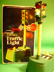 battery-operated traffic light