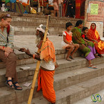 Selling Postcards Along the Ghats - Varanasi, India
