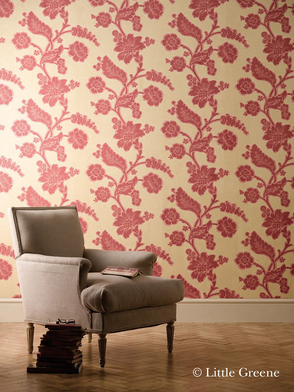 ... London Wallpapers Soho square Bronze Red | by The Little Greene Paint Company