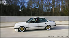 1990 325i Sedan E30 Alpine White Weiss Rolling Stanced Gol Flickr