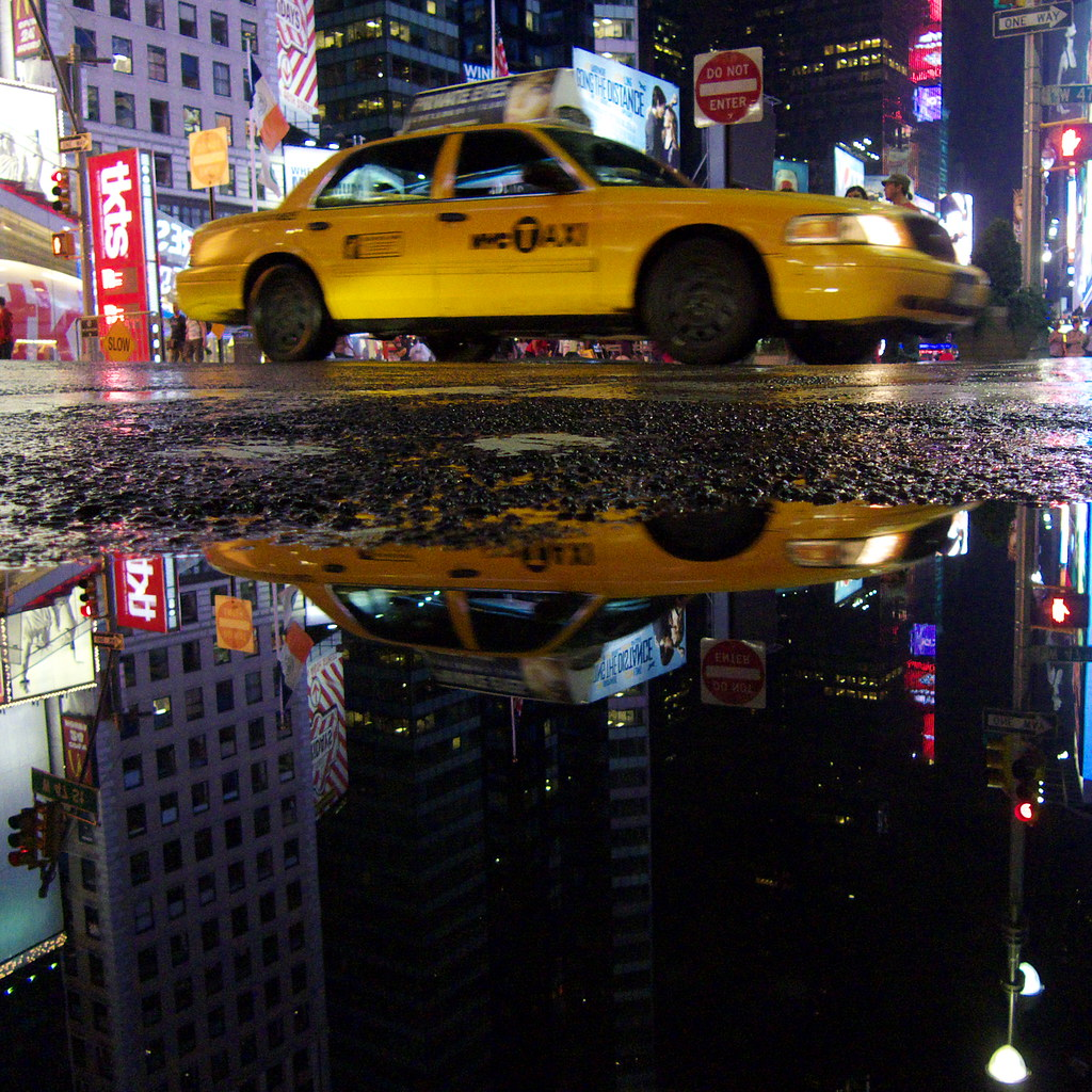 Taxi Cab in Times Square