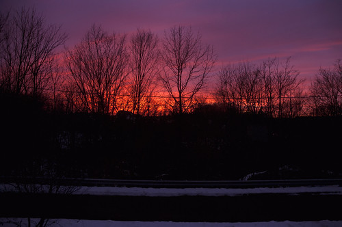 sunset sky snow color home beautiful newjersey