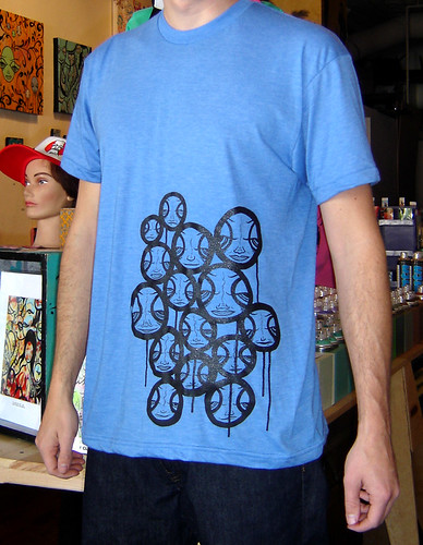 Faces In The Sky - screen printed shirt