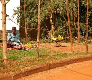 Old Woman Selling Bananas, Kampala