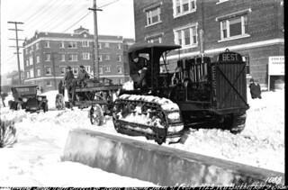 Snowplow at work, 1923
