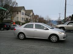 automobile, automotive exterior, wheel, vehicle, toyota corolla, compact car, sedan, land vehicle,