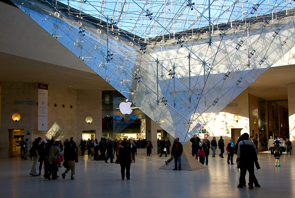 The Louvre Carousel and the famous Louvre Apple Store.  Guess what, it's just like the Apple Stores in the US.