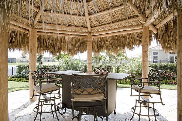 tiki hut in a backyard pool area flickr photo sharing