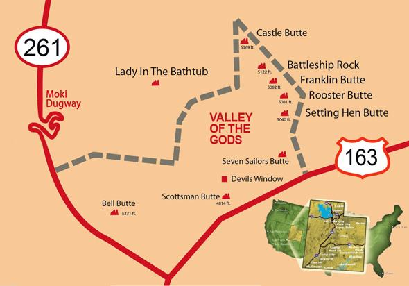 Localización Valle de los Dioses en Utah Valle de los Dioses en Mexican Hat, Utah - 13925431043 6355f58b0d o - Valle de los Dioses en Mexican Hat, Utah