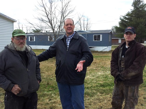 Left to right, Jeff Woodard (resident), John Wilson (chair, tenants' assn), Leo Huff (resident)