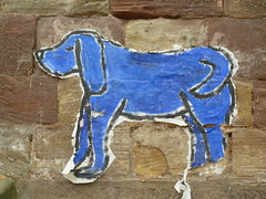 Strasbourg chien bleu blue dog street art