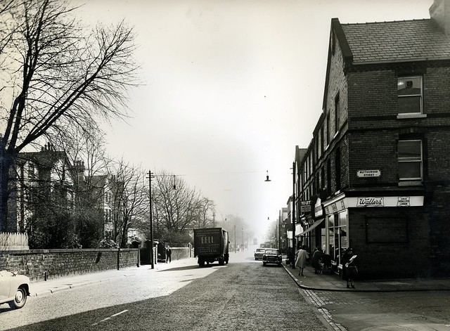 Aigburth Road/Blythswood Street, Liverpool 17.  26 March 1964.  (LRO photo).