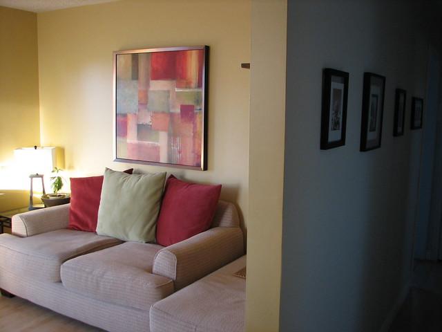 Morning light chestertown buff living room reno flickr for Benjamin moore monterey white