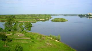 Dnipro river, Kremenchug, Ukraine