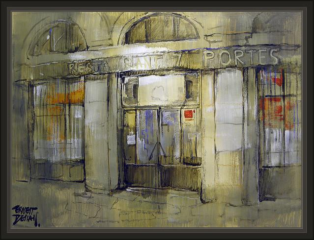 Set portes 7 portes restaurant restaurants restaurantes barcelona pinturas cuadros pintura - Restaurante 7 puertas barcelona ...