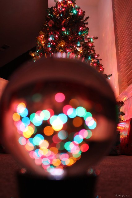 Christmas crystal ball bokeh i was inspired by a