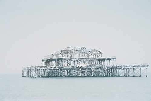 West Pier in the snow by fotobes