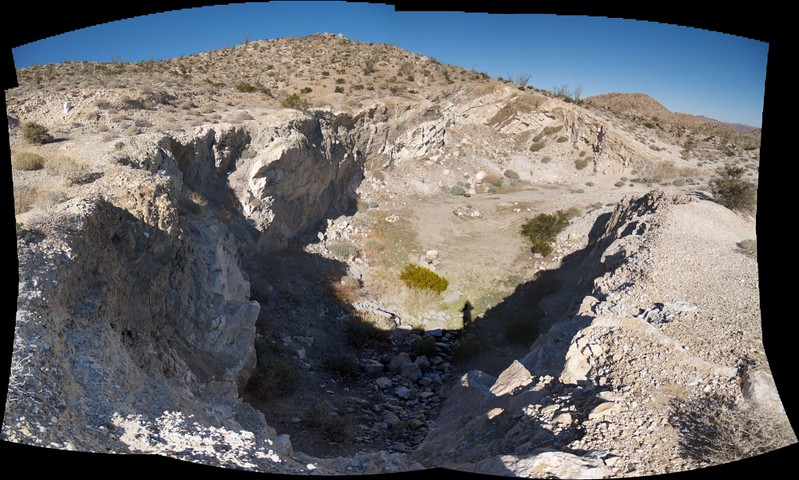 Panorama from the top of the Dos Cabezas Limestone Mine