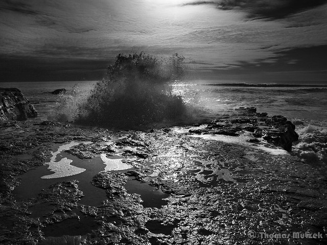 Breaking Wave, Lighthouse Park, Santa Cruz, 2009