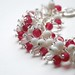 Rose Pink glass bead bracelet (4)
