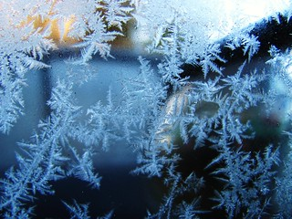 Frost on the window of my car