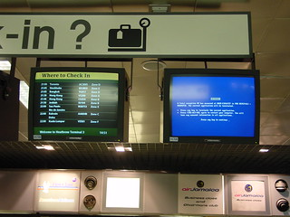 BSOD, Heathrow Airport
