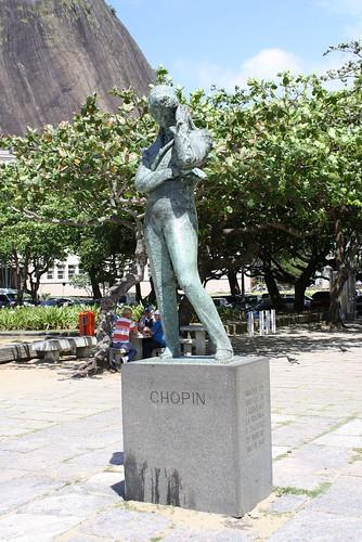 The statue of Chopin in Lion Square, Rio de Janeiro