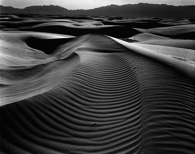 Dunes and Mountains, White Sands, by Brett Weston 1946