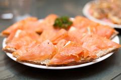 salmon, fish, seafood, lox, food, dish, cuisine, smoked salmon,