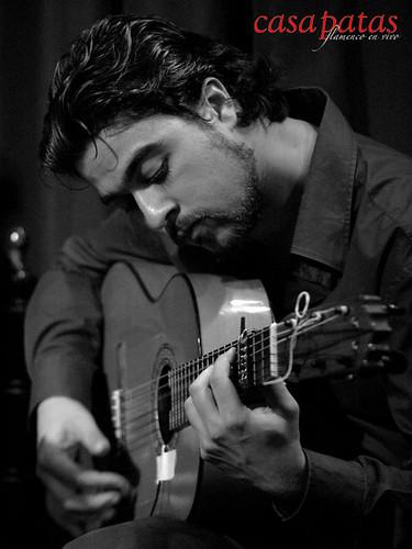 El guitarrista Juan Jiménez. Foto: Martín Guerrero