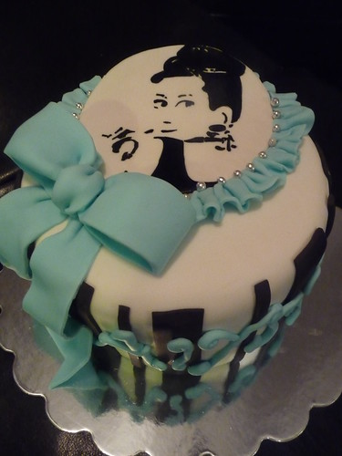 Audrey inspired Sweet Sixteen Birthday Cake