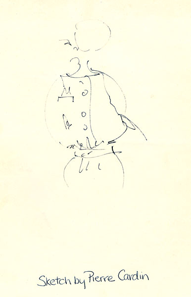 Original Sketch by Pierre Cardin