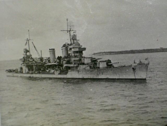 THE PACIFIC WAR: Veteran New Orleans Class heavy cruiser USS MINNEAPOLIS. Collection of Alan Meade, RAN 1943-1946.