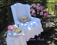 Wing Chair Slipcover Tutorial