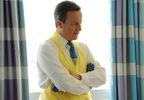 David Cameron at Queen Elizabeth Hospital Birmingham
