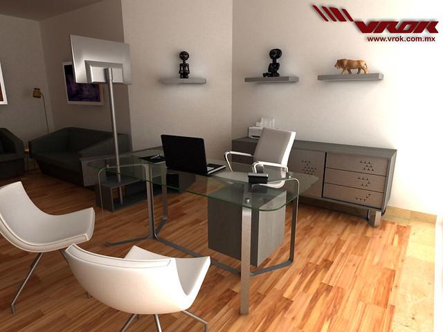 Diseño de Muebles para Oficina. VROK. Escritorio. Sillas Marca Labenze  Flic...