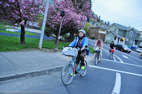 Bike Advisory Committee rides downtown-36