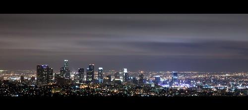 city longexposure light sky cloud night canon landscape losangeles downtown cityscape observatory griffith ef24105mmf4lisusm horizontalpanorama eos5dmarkii hpano