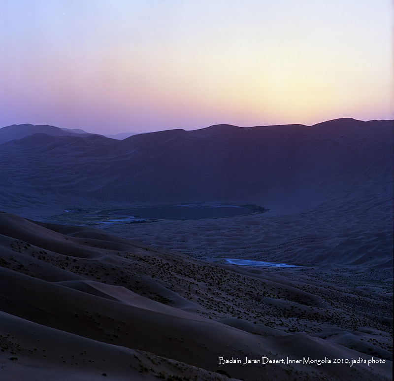 before sunrise, @ badain jaran desert...