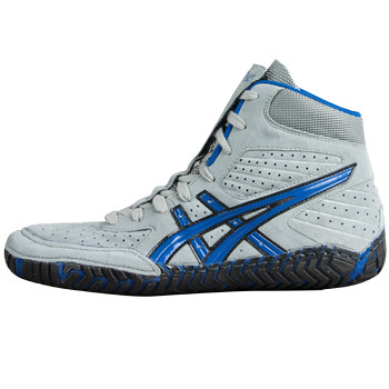 55d0eaa20f08c1 ... Asics Aggressor Grey and Royal Blue Wrestling Shoes 10