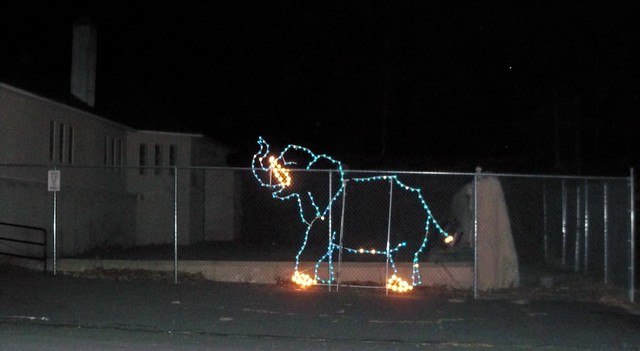 An Abandoned Zoo Christmas:  the remains of the Elephant House, Nay Aug Park Zoo, Scranton Pennsylvania