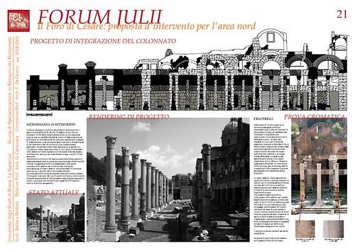 """Dott.ssa Arch. Barbara Baldrati """"Roma - Fori Imperiali: Interventi di ricostruzione in anastilosi di colonne al Foro di Cesare,"""" 12/12/2010."""