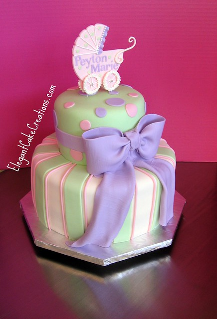 Cake Decorating Baby Carriage : Baby Carriage Shower Cake Flickr - Photo Sharing!