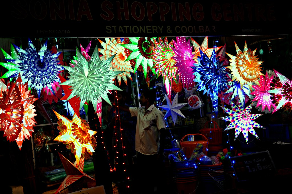 Advent Of Christmas...Stars on Display at a Village Shop In Kerala..