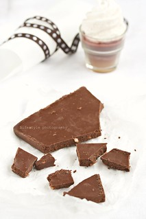 Decadent raw coconut fudge