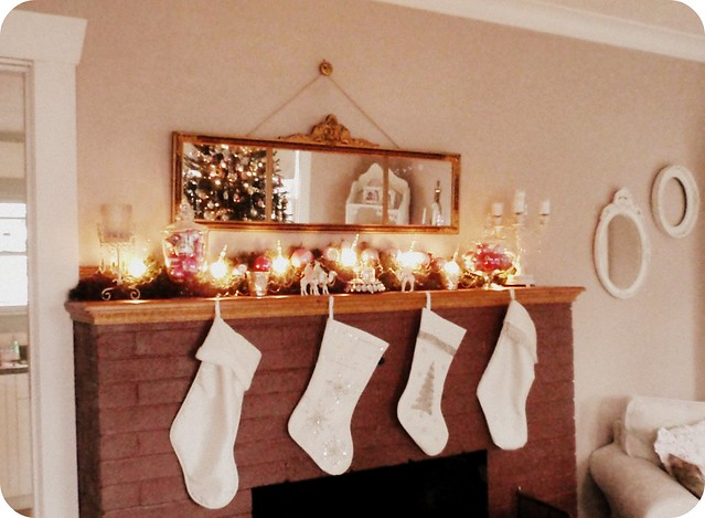 2010 Christmas mantel