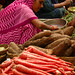 Red Carrots at the Market in Udaipur, India