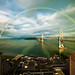 San Francisco Rainbow over the Bay Bridge by Lisa Bettany {Mostly Lisa}