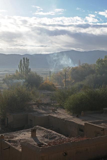 タシュクルガン、朝の集落