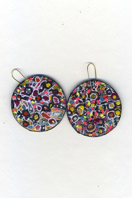 handmade painted paper earringsHandmade Paper Earrings